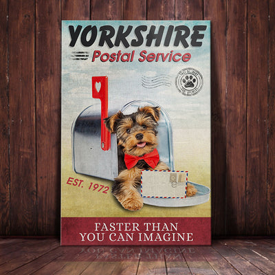Yorkshire Terrier Dog Postal Service Canvas FB2502 95O39