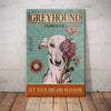Greyhound Dog Flower Company Canvas FB2002 71O56