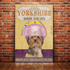 Yorkshire Terrier Dog Hair Salon Canvas FB2401 73O49
