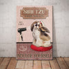 Shih Tzu Dog Hair Salon Canvas FB2401 68O52