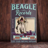 Beagle Dog Record Company Canvas MR0301 90O60