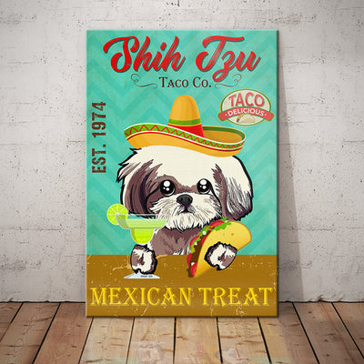 Shih Tzu Dog Taco Company Canvas FB2701 68O59
