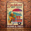 Dachshund Dog Hotdog Company Canvas FB2202 95O47