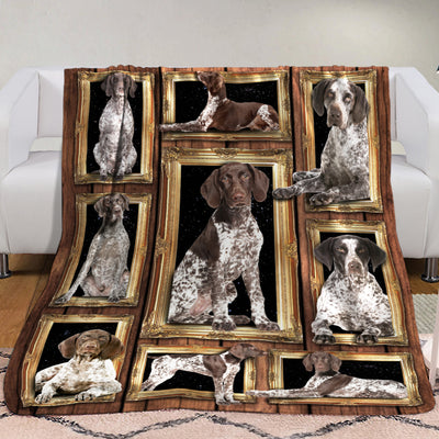 German Shorthaired Pointer Dog Fleece Blanket MR0601 81O31