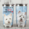 Westie Dog Steel Tumbler MR1103 71O51