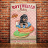 Rottweiler Dog Bakery Shop Canvas FB1801 95O49