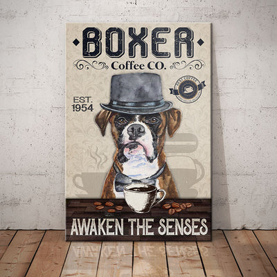 Boxer Dog Coffee Company Canvas FB2803 69O35