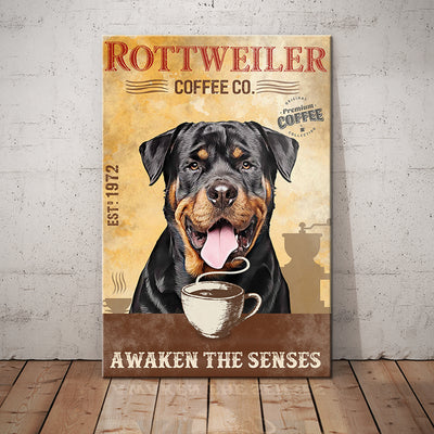 Rottweiler Dog Coffee Company Canvas FB1702 69O59