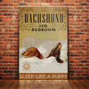 Dachshund Dog Bedroom Company Canvas FB2104 85O36
