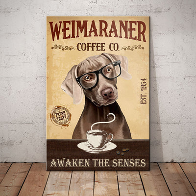 Weimaraner Dog Coffee Company Canvas FB2004 69O51