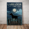 Labrador Retriever Dog Lake Canvas MR0401 81O61