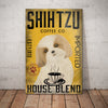 Shih Tzu Dog Coffee Company Canvas FB0601 87O58