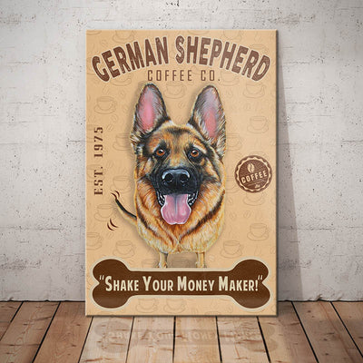 German Shepherd Dog Coffee Company Canvas FB2502 68O42