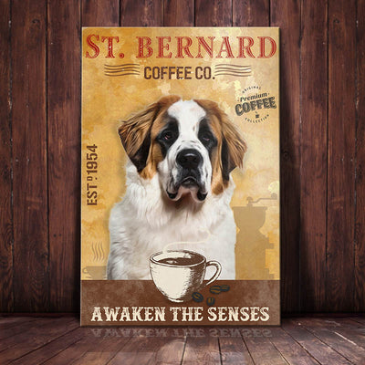 St. Bernard Dog Coffee Company Canvas FB2003 69O42