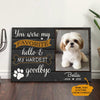 Personalized Dog Memorial Canvas MR3102 67O57