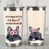 French Bulldog Steel Tumbler MR0705 68O56