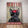 Scottish Terrier Dog Coffee Company Canvas MR0502 73O39