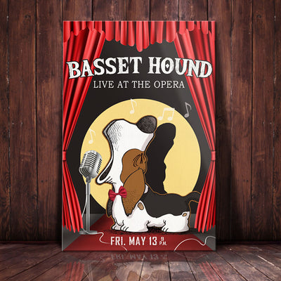 Basset Hound Dog Theater Canvas FB2604 85O34