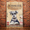 Miniature Schnauzer Dog BookStore Company Canvas FB2103 67O51
