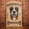 Pitbull Dog Cookie Company Canvas