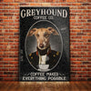 Greyhound Dog Coffee Company Canvas FB2003 73O49
