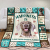 Weimaraner Dog Fleece Blanket MR0603 68O42