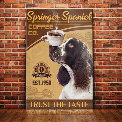 Springer Spaniel Dog Coffee Company Canvas FB2602 73O39