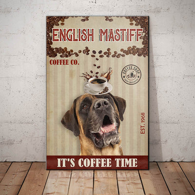 English Mastiff Dog Coffee Company Canvas FB2504 68O49