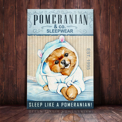 Pomeranian Dog Sleepwear Company Canvas FB2803 85O34