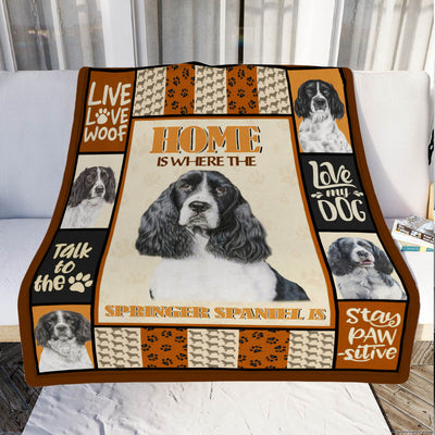Springer Spaniel Dog Fleece Blanket MR0503 69O49