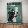 Border Collie Dog Coffee Company Canvas FB1301 78O43