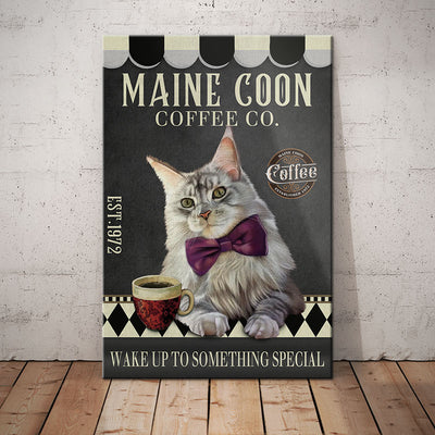 Maine Coon Cat Coffee Company Canvas MR0603 90O39