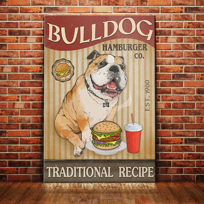 Bulldog Hamburger Company Canvas FB2405 67O52