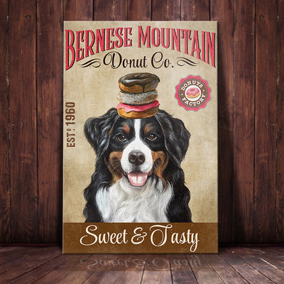 Bernese Mountain Dog Donut Company Canvas MR0301 67O59