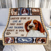 Springer Spaniel Dog Fleece Blanket MR0502 71O56