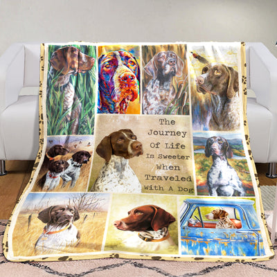 German Shorthaired Pointer Dog Fleece Blanket MR0602 71O31