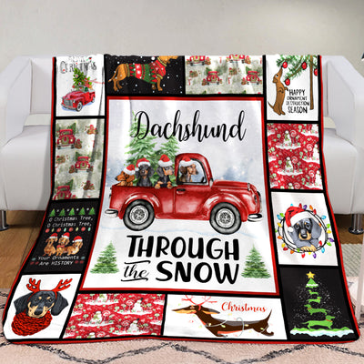 Dachshund Christmas Fleece Blanket AU2802 82O34