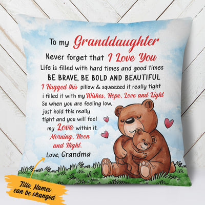 Personalized Grandma Bear  Pillow NB212 30O57 (Insert Included)