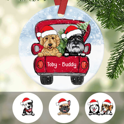 Personalized Dog Christmas 2020 Full Ceramic Ornament SB301 81O34