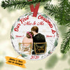Personalized First Christmas Wedding Couple Ceramic Ornament OB51 65O34