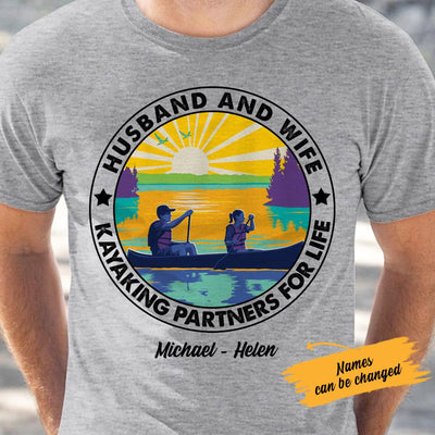 Personalized Kayaking White T Shirt JN162 65O61