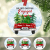 Personalized Couple First Christmas Red Truck Ceramic Ornament OB134 81O53