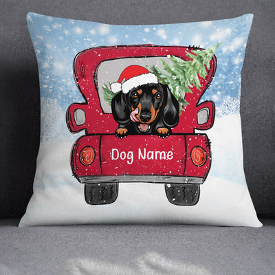 Personalized Dog Christmas 2020  Pillow SB301 81O34 (Insert Included)