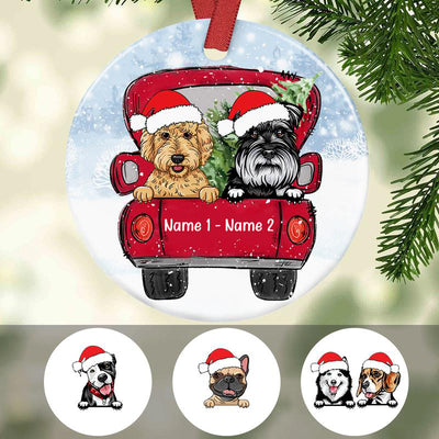 Personalized Dog Christmas 2020 Full Circle Ornament SB301 81O34