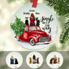 Personalized Dog Red Truck Christmas  Ornament OB194 85O60