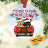 Personalized Dog Red Truck Jolly Christmas Ceramic Ornament SOB191 87O58