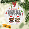 Personalized Thanks Dog Dad Christmas  Ornament OB202 30O34