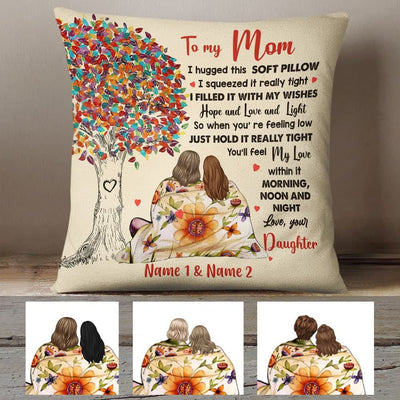 Personalized Mom And Daughter Tree Pillow JR252 30O60 (Insert Included)