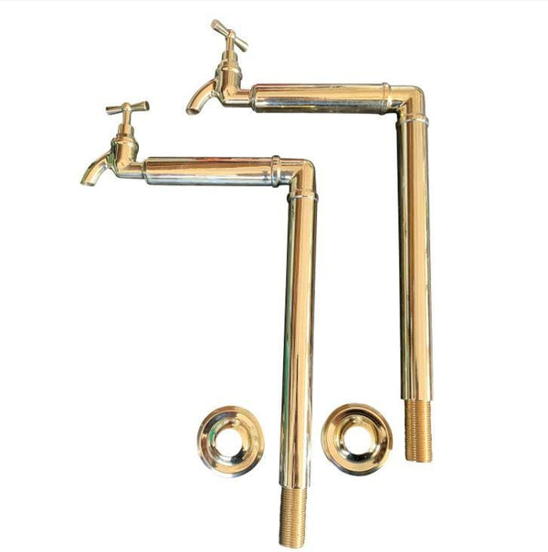 BT16 No 2 traditional bib taps with upstands Any size