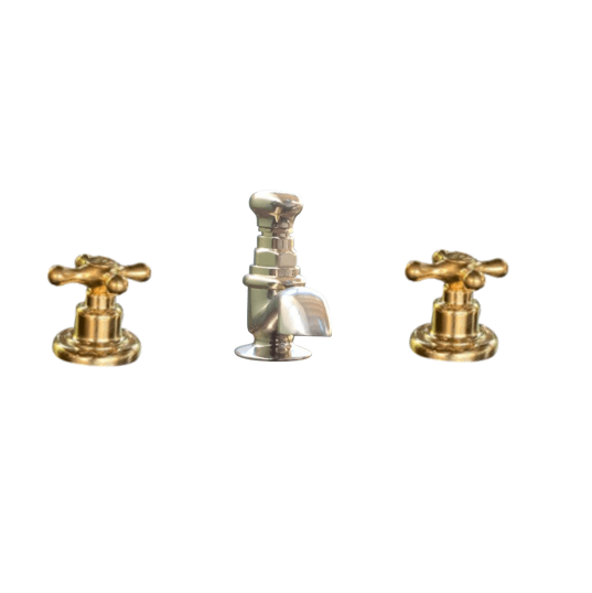 BT17 3 holes deck mounted basin tap solid brass